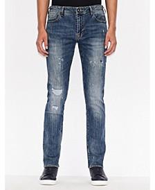 Distressed Skinny Fit 5 pocket Denim
