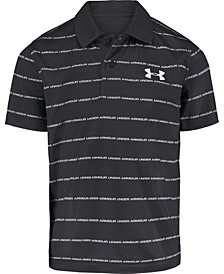 Toddler Boys Match Play Wordmark Stripe Polo T-shirt