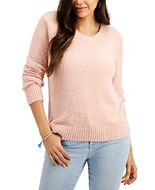 Petite Plush Crewneck Sweater, Created for Macy's