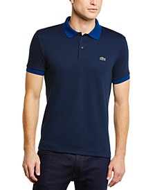 Men's Regular-Fit Herringbone Jacquard Polo Shirt