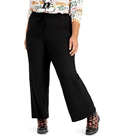 Trendy Plus Size Paperbag Palazzo Pants