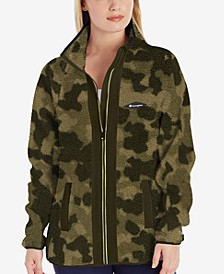 Women's Camo-Print Fleece Jacket