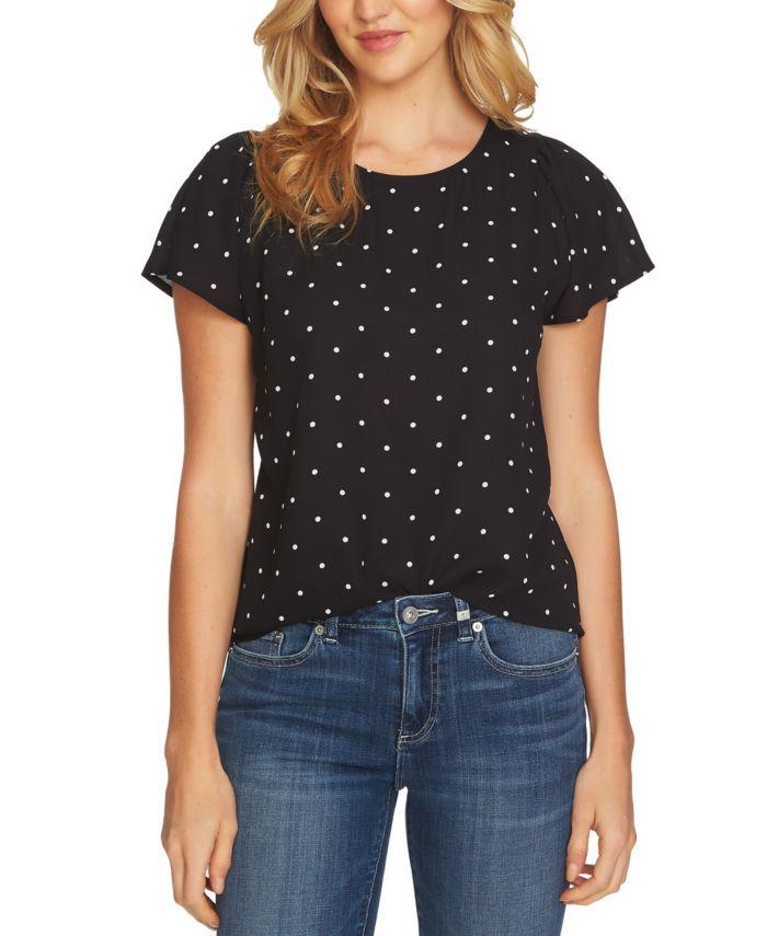 CeCe Dot Print Top & Reviews - Dresses - Women - Macy's