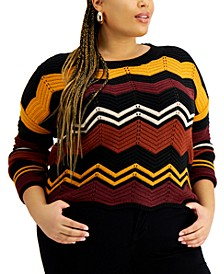 Trendy Plus Size Scalloped Sweater