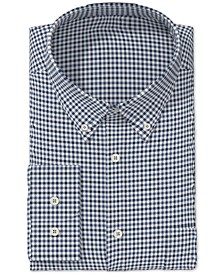 Men's Classic/Regular Fit Gingham Check Performance Dress Shirt, Created for Macy's