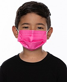 5-Pk. Child-Size Disposable Solid Neon Face Masks