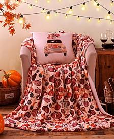 Fall Car Decorative Pillow and Throw Set