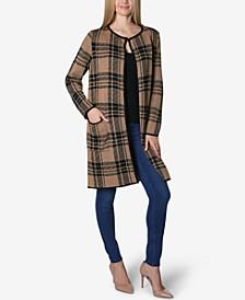 Tun Collar Round Neck Long Sleeve Sweater Cardigan