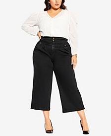 Women's Trendy Plus Size Harley Denim Culotte Jean