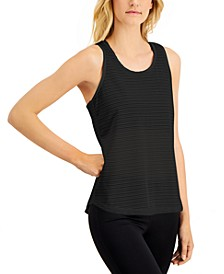 Shadow-Striped Diamond-Back Tank Top, Created for Macy's