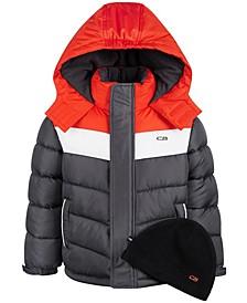 Little Boys Colorblocked Puffer Coat