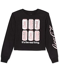 Juniors' Coca-Cola Long-Sleeved Graphic T-Shirt