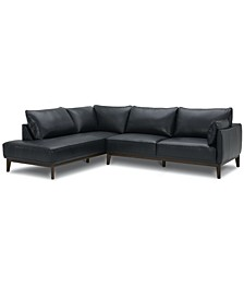 Jollene Leather 2-Pc. Sectional with Chaise, Created for Macy's