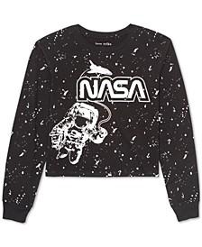 Juniors' NASA Long-Sleeved Graphic T-Shirt