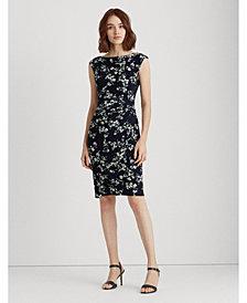 Lauren Ralph Lauren Floral Boatneck Dress