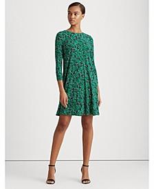 Floral Matte Jersey Dress