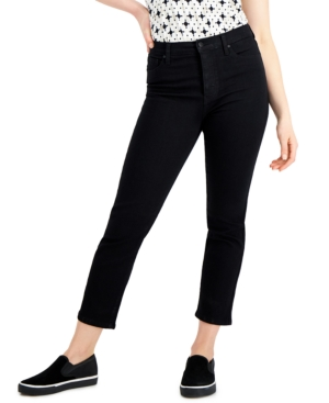 Juniors' High-Rise Slim-Straight Ankle Jeans