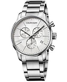 Men's Chronograph City Stainless Steel Bracelet Watch 43mm