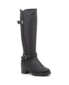 Women's Ellie Block Heel Regular Calf Tall Boots