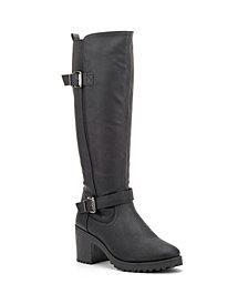 Olivia Miller Women's Ellie Block Heel Regular Calf Tall Boots