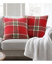 """20"""" x 20"""" Tristen Plaid Chenille Decorative Pillow 2-Pack"""