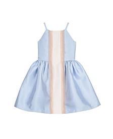 Big Girls Sleeveless Lace Panel Dress