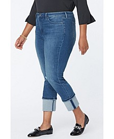 Plus Size Sheri Slim Ankle Tall Cuff Jeans