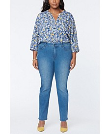 Plus Size Marilyn Straight Leg Jeans