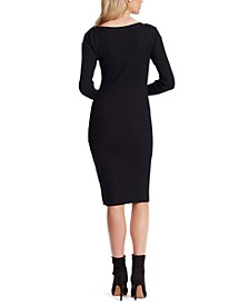 Madeleine Ribbed Midi Sweater Dress