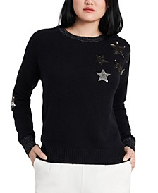 Jamie Sequin-Star Sweater, Created for Macy's