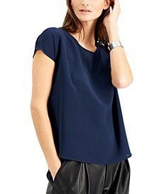 Solid-Color Scoop-Neck Top, Created for Macy's