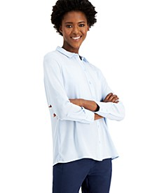 Plus Size Long-Sleeve Shirt, Created for Macy's
