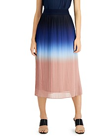 Ombré Pleated Midi Skirt, Created for Macy's