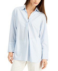 Striped Inverted-Pleat Shirt, Created for Macy's