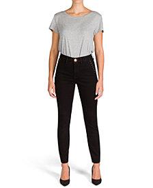 JEN7 Studded Pocket Skinny Jeans