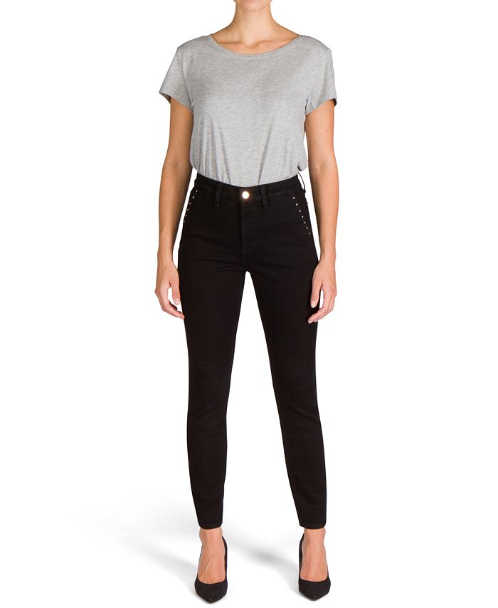 Jen7 by 7 For All Mankind - Studded Pocket Skinny Jeans