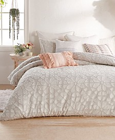 Clipped Floral Comforter Set, Queen