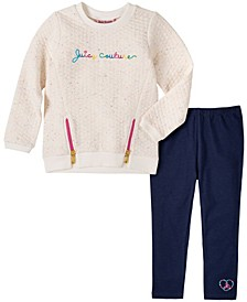 Little Girls Novelty Fleece Tunic and Legging Set