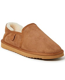 Fireside by Dearfoam Men's Hobart Genuine Shearling Closed Back Slippers