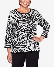 Women's Missy Knightsbridge Station Animal Jacquard Sweater