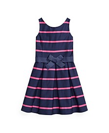Big Girls Striped Sateen Dress