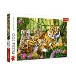 Jigsaw Puzzle Family of Tigers, 500 Piece