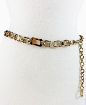 Women's Combination Braided Ring and Resin Chain