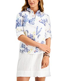 Printed Button-Down Woven Top, Created for Macy's