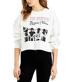 Women's The Beatles Cotton Cropped Sweatshirt