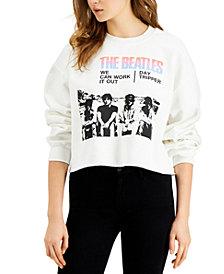 Junk Food The Beatles Cotton Cropped Sweatshirt