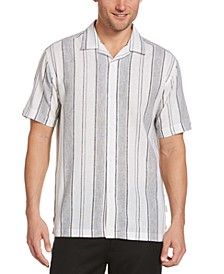 Men's Striped Camp Shirt