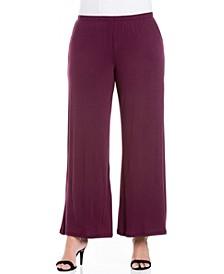 Women's Plus Size Wide Leg Palazzo Pants