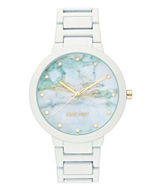 Women's White Rubberized Bracelet Watch, 40.5mm