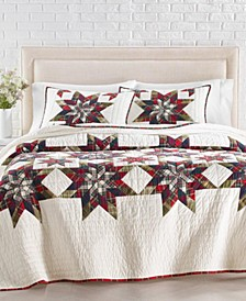 Star Plaid Patchwork Artisan Quilt and Sham Collection